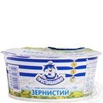 Творог Простоквашино зернистый со сливками 4% 130г