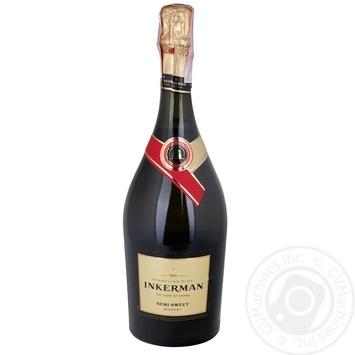Вино игристое Inkerman Мускат белое полусладкое 13,3% 0,75л