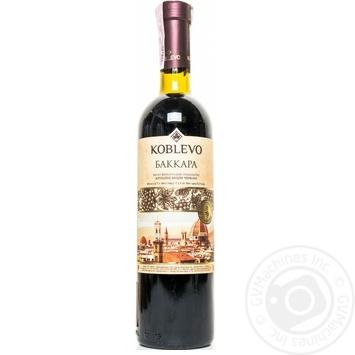 Вино красное Коблево Баккара виноградное ординарное крепкое 17.5% стеклянная бутылка 750мл Украина