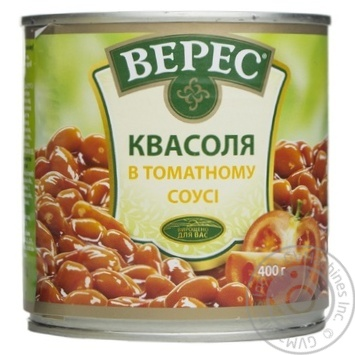 Скидка на Фасоль Верес в томатном соусе 400г Украина