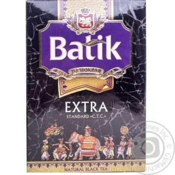 Tea Batik black loose 100g cardboard packaging