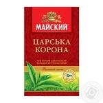 Чай черный Майский Царская Корона цейлонский байховый крупнолистовой 85г