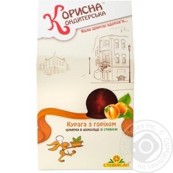 Dried apricots Korysna kondyterska with stevia sugar free for diabetics 150g