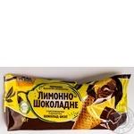 Морозиво Лимонно-шоколадне Три Ведмедi ріжок 90г