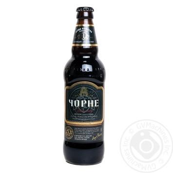 Пиво Первая приватная броварня Черное тёмное пастеризованное 6.8%об. 500мл