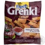 Гренки Flint Grenki ржаные со вкусом телятины с аджикой 80г Украина