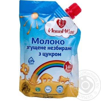 Молоко згущене Мама Міла незбиране з цукром 8.5% 140г дой-пак Україна
