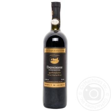 Вино красное Сердце Кахетии Пиросмани натуральное виноградное полусухое 12% стеклянная бутылка 750мл Грузия - купить, цены на Novus - фото 1