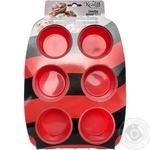 Форма силікована Krauff д/випічки кексів 30x20,7x3,3 см 26-184-027