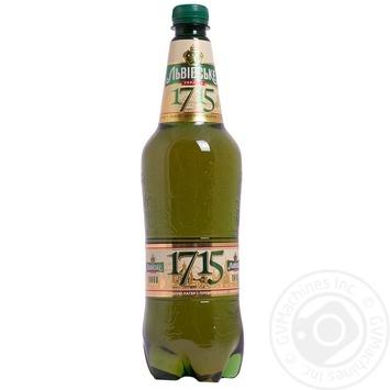 Пиво Львовское 1715 светлое 1000мл Украина