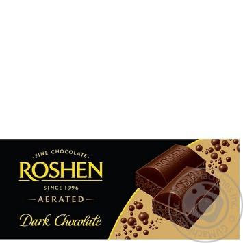 Шоколад экстрачерный пористый Рошен Классик 100г плиточный Украина - купить, цены на Фуршет - фото 1