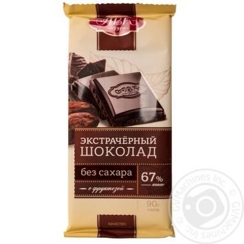 Шоколад АВК экстрачерный с фруктозой 67% 90г