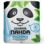Полотенца бумажные Сніжна панда 4шт/уп