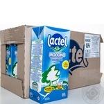Молоко ультрапастериз Lactel с витамин D 0,5% т/б 1000г