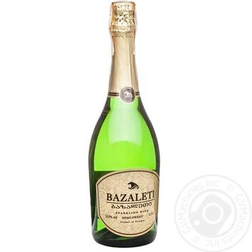 Вино игристое Bazaleti белое полусладкое 0,75л