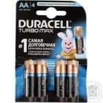 Батерейка Durasell Turbo AA алкалінова 1.5V LR6 4шт