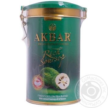 Черный чай Акбар Рич Саусеп цейлонский с маслом саусепа 200г