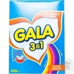 Laundry detergent powder Gala 3in1 Bright colors for hand laundry 400g