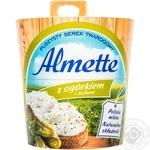 Сыр творожный Альметте с огурцами и травами 150г Польша