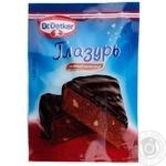 Приправа Dr.Oekter Глазурь кондитерская темный шоколад 100г