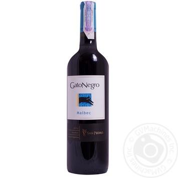 Gato Negro Malbec red dry wine 13% 0,75l