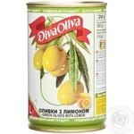 Оливки зеленые Diva Oliva с лимоном 314мл
