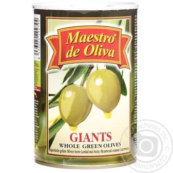 Оливки Maestro de Oliva гігантські з кісточкою 432мл