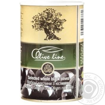 Маслины черные Olive Line с косточкой 420г