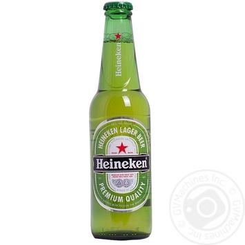 Пиво Хайнекен светлое пастеризованное стеклянная бутылка 5%об. 330мл Голландия