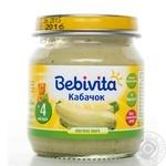 Пюре овощное Бебивита Кабачок без соли для детей с 4 месяцев 100г