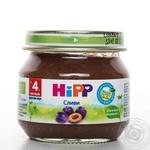 Пюре ХиПП Сливы с витамином С для детей с 4 месяцев стеклянная банка 80г Венгрия