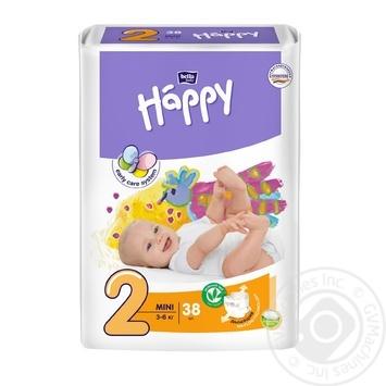 Подгузники Bella baby Happy 2 mini 3-6кг 38шт