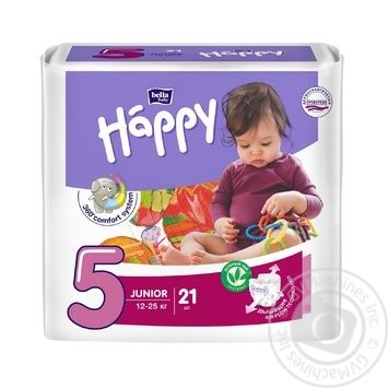 Diaper Happy Junior for children 12-25kg 21pcs 630g