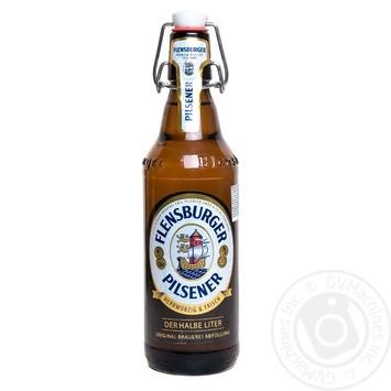 Пиво Flensburger Pilsner светлое 4.8% 0,5л - купить, цены на Novus - фото 1