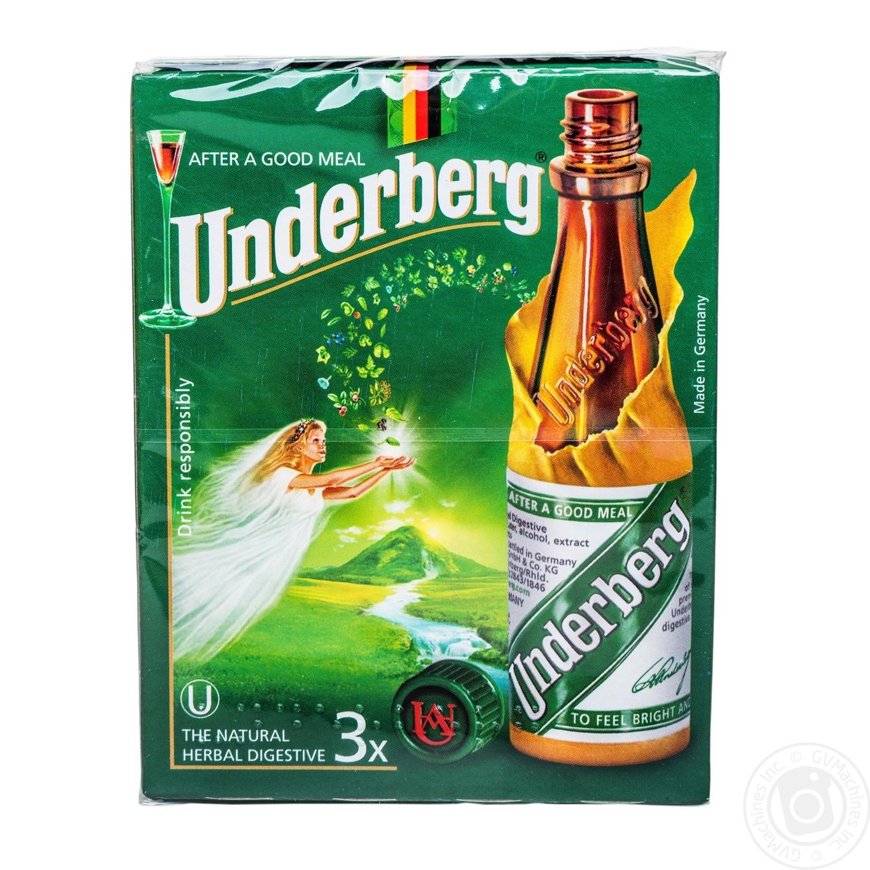 Настойка Underberg 44% 3x0,02л в коробке