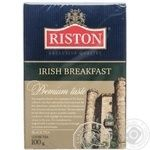Черный чай Ристон Ирландский завтрак цейлонский байховый мелкий с ароматом бергамота 100г Шри-Ланка