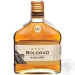 Cognac Bolgrad 40% 250ml glass bottle Ukraine - buy, prices for Furshet - image 1