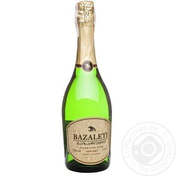 Вино игристое Bazaleti белое полусухое 12,5% 0,75л - купить, цены на Novus - фото 1