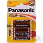 Panasonic Battery LR6 Alkaline Power AA 4pcs