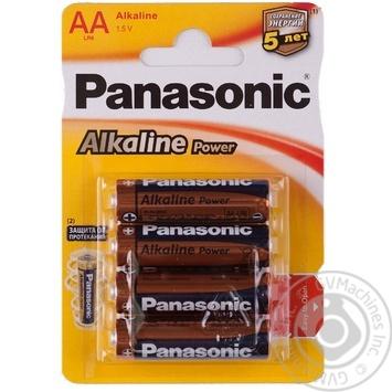 Panasonic Battery LR6 Alkaline Power AA 4pcs - buy, prices for EKO Market - photo 1