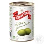 Оливки Дива Олива зеленые с косточкой 314мл - купить, цены на Novus - фото 1