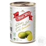 Оливки Diva Oliva зеленые с лимоном 300г - купить, цены на Novus - фото 1