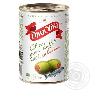 Оливки Diva Oliva с семгой 314мл - купить, цены на Novus - фото 1