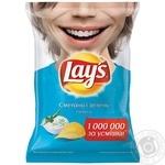 Чипсы Lay's картофельные со вкусом сметаны и зелени 133г