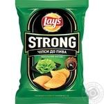 Чипсы Lay's Strong картофельные рифленые Адский васаби со вкусом васаби 62г