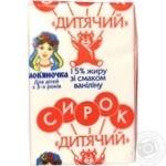 Сирок Слов'яночка Дитячий з ваніліном 15% 90г