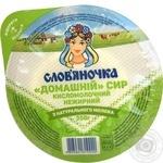 Сир кисломолочний Слов'яночка Домашній нежирний 350г