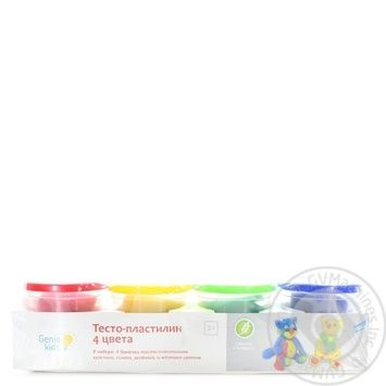 Тесто-пластилин Genio 4 цвета TA1010V - купить, цены на МегаМаркет - фото 1