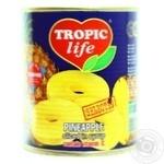 Ананас Tropic life кольца в сиропе 850мл - купить, цены на Novus - фото 1
