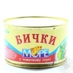Бычки Море в томатном соусе 230г - купить, цены на Фуршет - фото 2